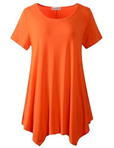Lanmo Womens Swing Tunic Tops Loose Fit Comfy Flattering T