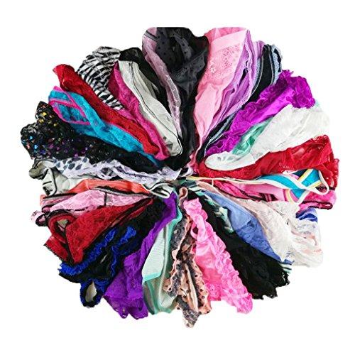 Jooniyaa Varity Of Women Underwear Pack T-Back Thong G-String Lacy Panties Tanga X-Smallsmall -3237
