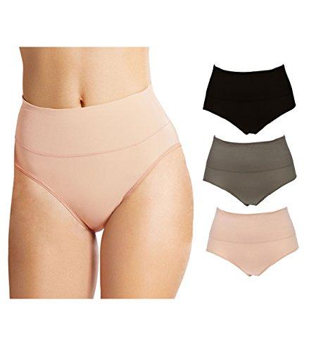 0d54321135f3 Emprella High Waisted Women Underwear Briefs 3 Set Shapewear Control Panties