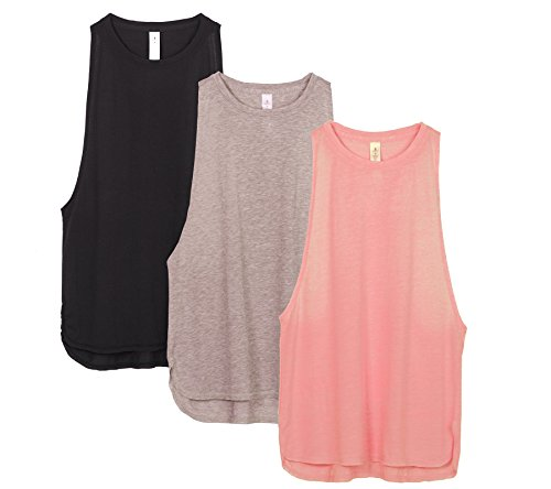 Icyzone Yoga Tops Activewear Workout Clothes Sports